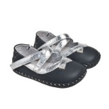 LBL for Girls - Silver Rebecca Infant Shoes