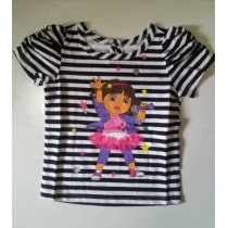 Dora Super Star Black Stripes Tee ZGT 316