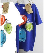 Smiley Design T-Shirt  MTEE 011 Blue