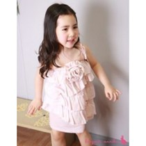 Fashionable Ruffles Dress ZGD 045 Peach