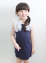 NAVY Ruffles Design Dress ZGD 047