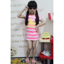 Sporty Stripes Dress ZGD 052 Pink