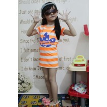 Sporty Stripes Dress ZGD 052 Orange