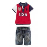 Red POLO Top n Bottom Set ZMS 002