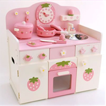 MG Pink Clock Kitchen
