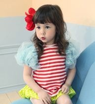 Lycra Stripes Blouse ZGT 313 Red